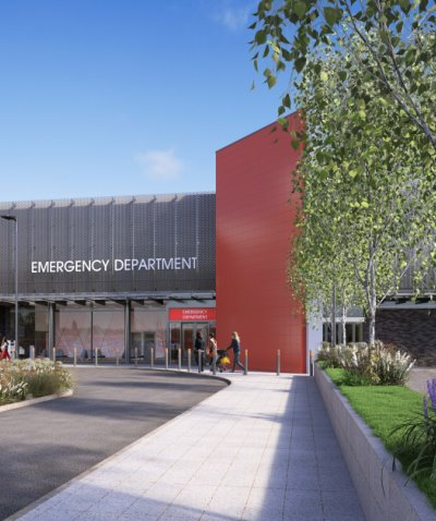 Front entrance of our new Emergency Department