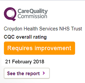 Graphic showing CQC rating