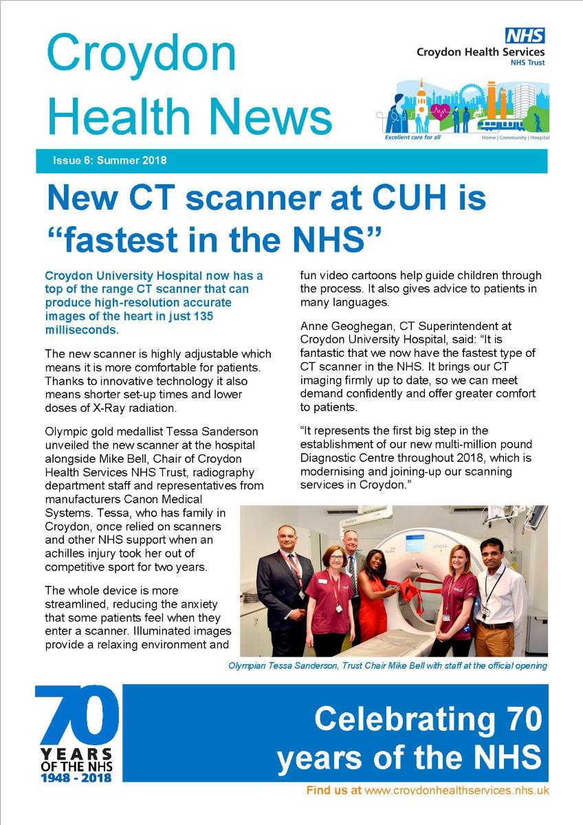 Croydon Health News Summer front page