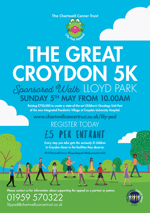 Lilypad 5k run flyer - 5 May Lloyd Park